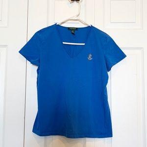 Women's Lauren - Ralph Lauren Large Tshirt - Royal
